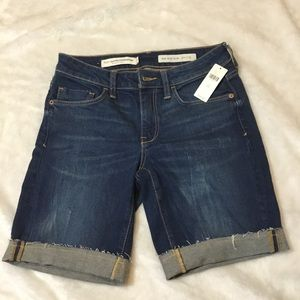 Anthropologie Pilcro mid rise slim jean shorts